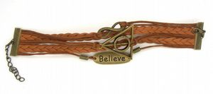 Believe bracelet, infinity bracelet,harry potter deathly hallows, wax cords & braided leather bracelet